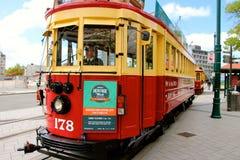 Christchurch spårvägvagn Nya Zeeland Royaltyfri Bild
