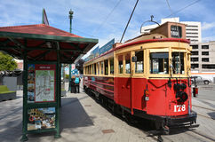 Christchurch Tramway tram system - New Zealand. CHRISTCHURCH - DEC 04 2015:Christchurch Tramway tram system.The tramway operate since 1882 and become one of the Royalty Free Stock Image