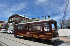 Christchurch Tramway tram system - New Zealand. CHRISTCHURCH - DEC 04 2015:Christchurch Tramway tram system.The tramway operate since 1882 and become one of the Stock Photography