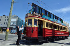Christchurch Tramway tram system - New Zealand. CHRISTCHURCH - DEC 04 2015:Christchurch Tramway tram system.The tramway operate since 1882 and become one of the Royalty Free Stock Photography