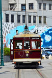 Christchurch Tramway tram system - New Zealand. CHRISTCHURCH - DEC 04 2015:Christchurch Tramway tram system.The tramway operate since 1882 and become one of the Stock Photos
