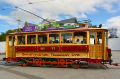 Christchurch Tramway tram system - New Zealand. CHRISTCHURCH - DEC 06 2015:Christchurch Tramway tram system.The tramway operate since 1882 and become one of the Stock Images