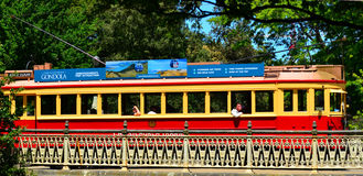 Christchurch Tramway tram system - New Zealand. CHRISTCHURCH - DEC 07 2015:Christchurch Tramway tram system.The tramway operate since 1882 and become one of the Stock Photography