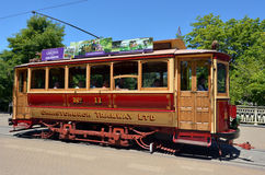 Christchurch Tramway tram system - New Zealand. CHRISTCHURCH - DEC 07 2015:Christchurch Tramway tram system.The tramway operate since 1882 and become one of the Stock Photos