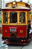 Christchurch Tramway tram system - New Zealand. CHRISTCHURCH - DEC 07 2015:Christchurch Tramway tram system.The tramway operate since 1882 and become one of the Royalty Free Stock Image