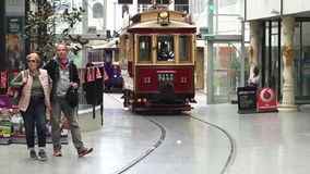 Christchurch Tramway tram system New Zealand stock footage