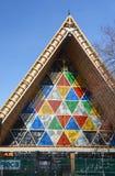 Christchurch trzęsienia ziemi odbudowywać - Kartonowa katedra Pobrudzony Gl Zdjęcia Royalty Free