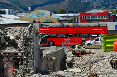 Christchurch turnerar bussen - Nya Zeeland Arkivfoton