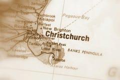 Christchurch, una ciudad en la sepia de Nueva Zelanda imagen de archivo