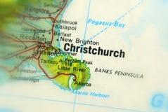 Christchurch, una ciudad en Nueva Zelanda imágenes de archivo libres de regalías