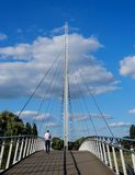 Christchurch upphängningbro Arkivfoton