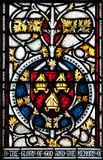 Christchurch witrażu Katedralny okno Obrazy Royalty Free