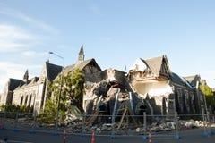 Christchurchaardbeving 2011 - Nieuw Zeeland Stock Foto