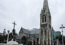 Christchurchkathedraal in Nieuw Zeeland, Oktober 2010 Stock Afbeeldingen
