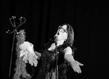Christel Kern die chanson zingen Portret van Franse actrice scène Stock Fotografie