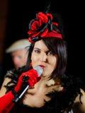 Christel Kern die chanson zingen Portret van Franse actrice scène Royalty-vrije Stock Afbeelding