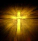 Christelijk godsdienstig kruis Stock Foto's
