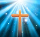 Christelijk godsdienstkruis Stock Foto