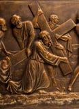 Christelijk het bronsbeeld van de pleisterhulp royalty-vrije stock afbeelding