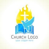 Christelijk kerk vectorembleem royalty-vrije illustratie