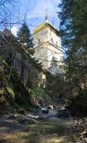 Christelijk klooster stock foto's