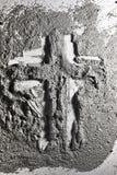 Christelijk kruis dat van as wordt gemaakt royalty-vrije stock foto's