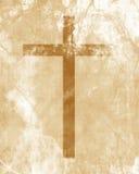 Christelijk kruis op document achtergrond Royalty-vrije Stock Foto's
