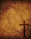 Christelijk kruis op document achtergrond Royalty-vrije Stock Foto