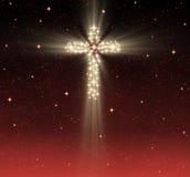 Christelijk kruis in sterren Royalty-vrije Stock Afbeeldingen
