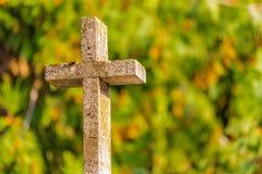 Christelijk marmeren kruis Royalty-vrije Stock Foto's