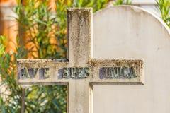 Christelijk marmeren kruis Stock Foto's