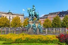 Christelijk V-standbeeld in Kopenhagen, Denemarken Royalty-vrije Stock Fotografie