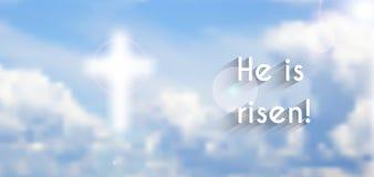 Christelijke beweging veroorzakend van Pasen, verrijzenis vector illustratie
