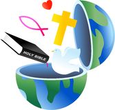 Christelijke bol vector illustratie