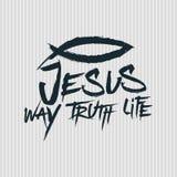 Christelijke druk Jesus - Manier waarheid life stock illustratie