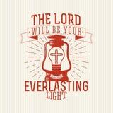Christelijke druk Lord zal u eeuwig licht zijn vector illustratie