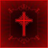 Christelijke dwars gloeiende achtergrond Royalty-vrije Stock Fotografie
