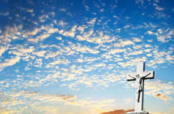 Christelijke DwarsAchtergrond royalty-vrije stock fotografie