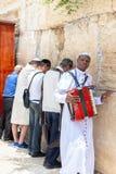 Christelijke en Joodse worshipers bij de Westelijke Muur Royalty-vrije Stock Foto's