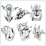 Christelijke Godsdienst - vectorillustratie. Stock Fotografie
