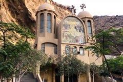 Christelijke heiligdommen in Egypte Bas-hulp van bijbelse geschiedenis stock afbeelding