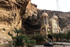 Christelijke heiligdommen in Egypte Bas-hulp van bijbelse geschiedenis stock foto's