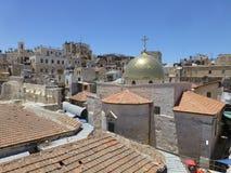 Christelijke kerk in de oude stad in het oosten royalty-vrije stock fotografie