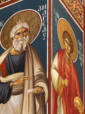 Christelijke muurschilderijen Stock Foto