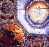 Christelijke muurschilderingen royalty-vrije stock afbeeldingen