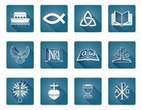Christelijke pictogrammen Royalty-vrije Stock Afbeeldingen
