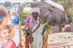 Christelijke priester in Ethiopië stock foto