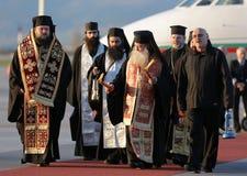 Christelijke priesters heilige heilige brand stock foto