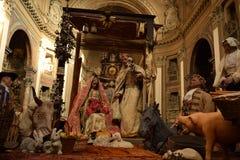 Christelijke scène in een kerk Stock Foto's