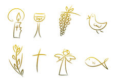 Christelijke Symbolen Royalty-vrije Stock Foto's